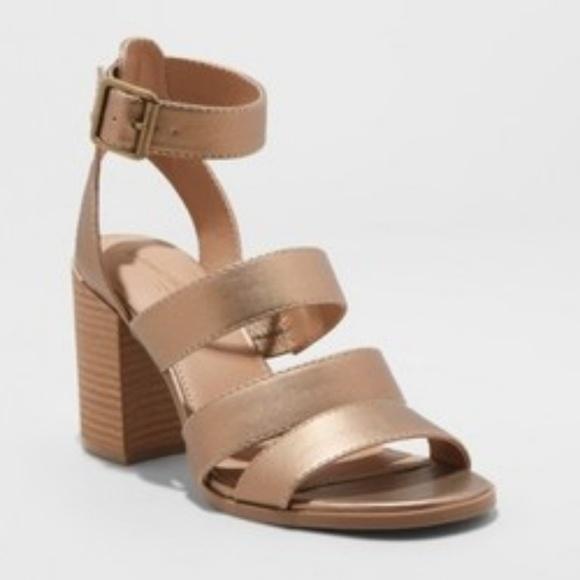 1b97dea8f TARGET BRAND  Women s Etta Metallic Ankle Strap